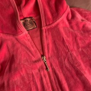 Juicy Couture Pink Zip Up Hoodie with back detail